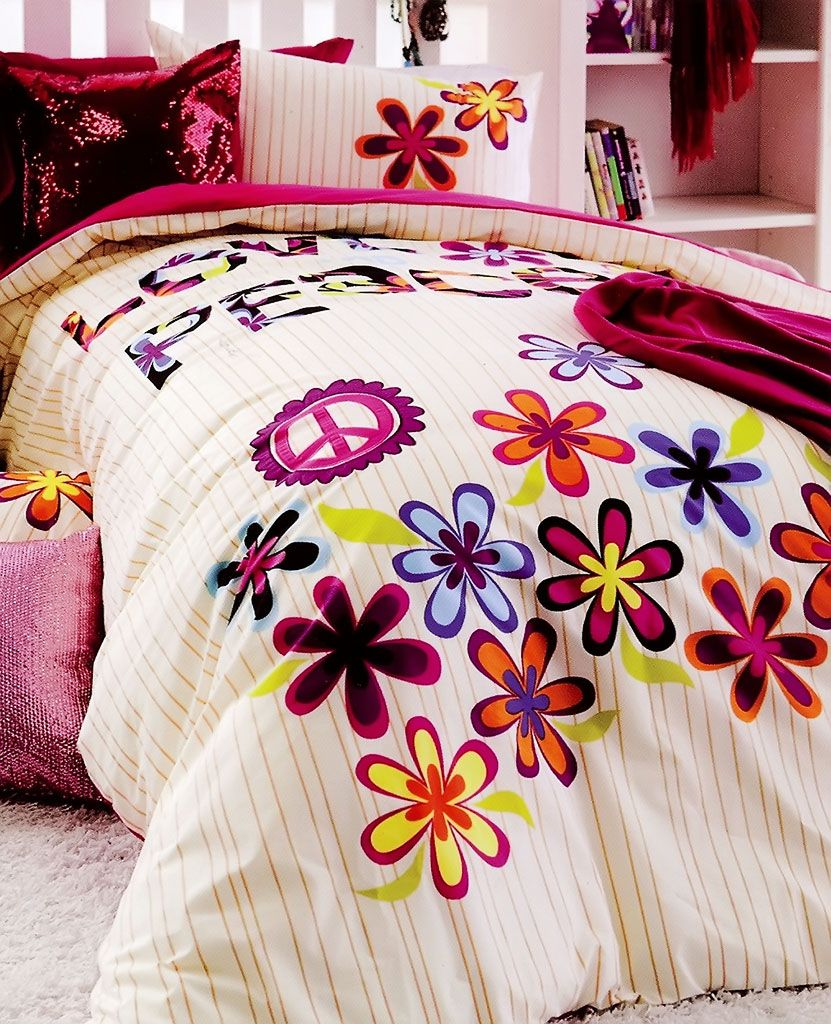 Peace Sign Bedroom Love And Peace Quilt Cover Set From Kids Bedding Dreams Peacesign