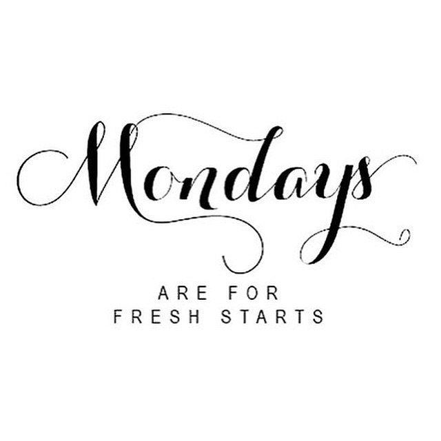 Happy Monday. New week, clean slate, fresh start #tiuteam