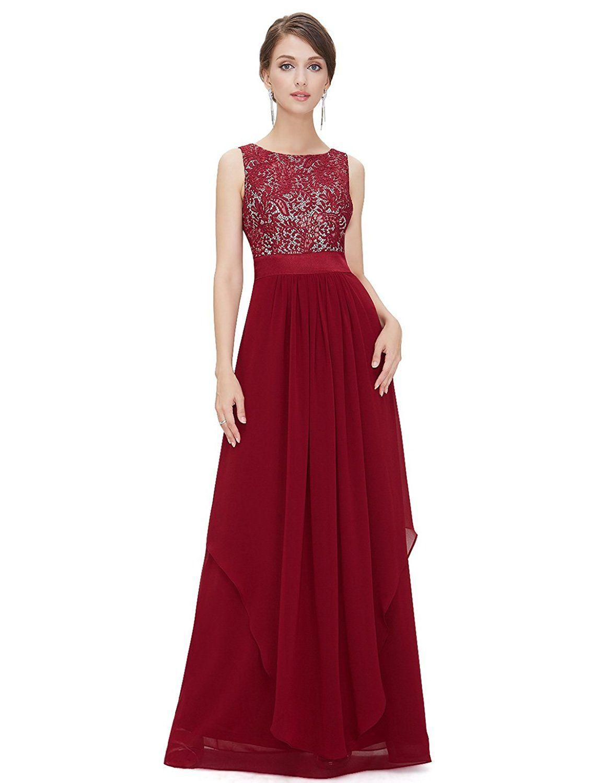 Ever Pretty Damen Chifon Elegant Lang Abendkleider 36 ...