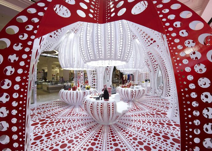 Explosion of Dots In a Louis Vuitton Concept Store, London