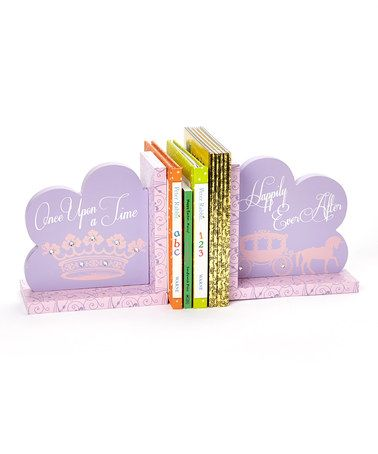 This Purple Princess Castle Bookends is perfect! #zulilyfinds