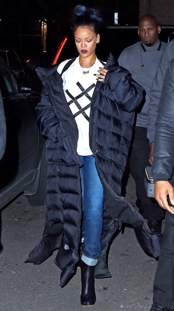 14052e8647dec Rihanna at Haus Club in Tribeca. [November 23,... - RIHANNANAVYHN ...