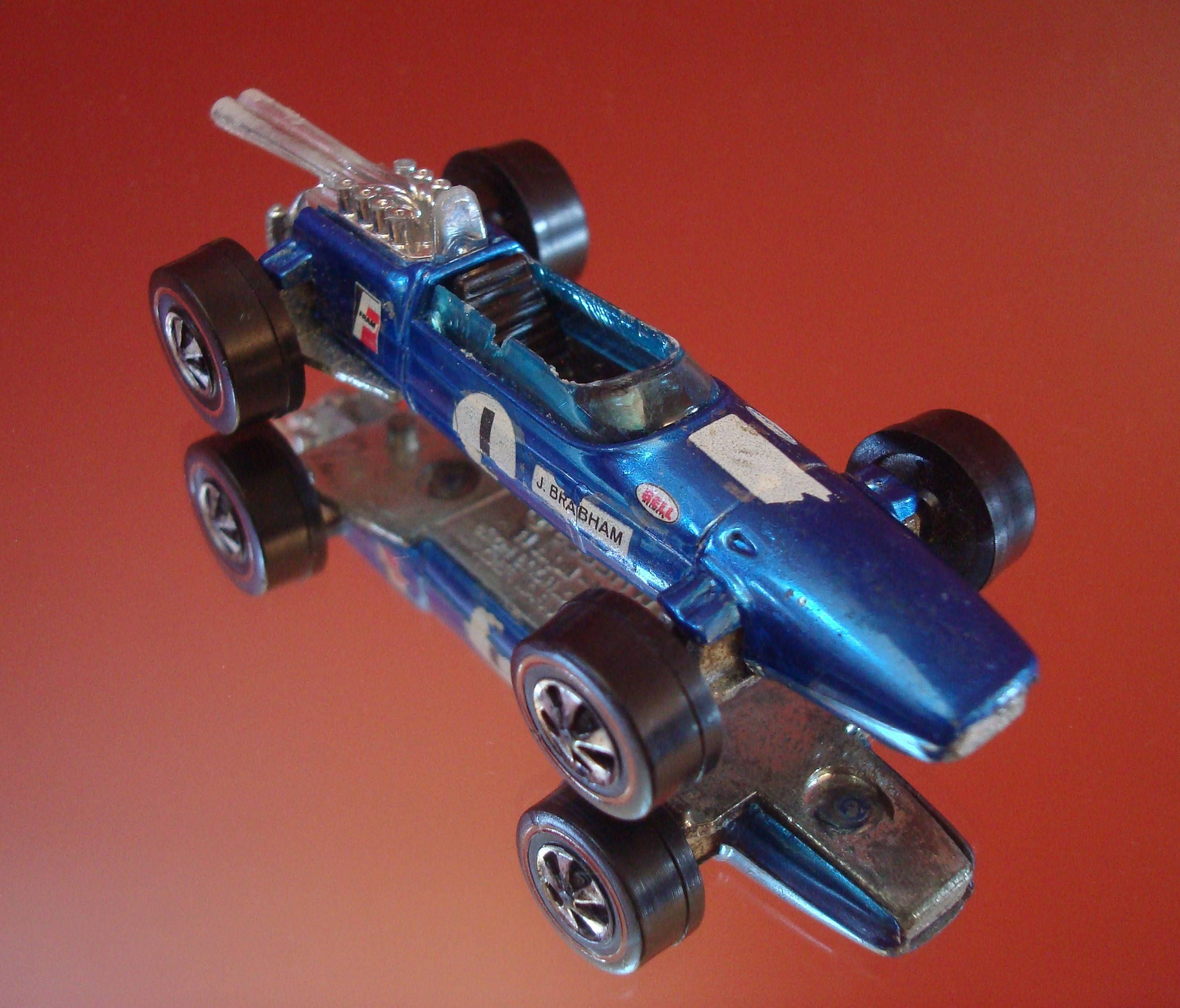 Vintage All Original Hot Wheels Spectraflame Blue Brabham