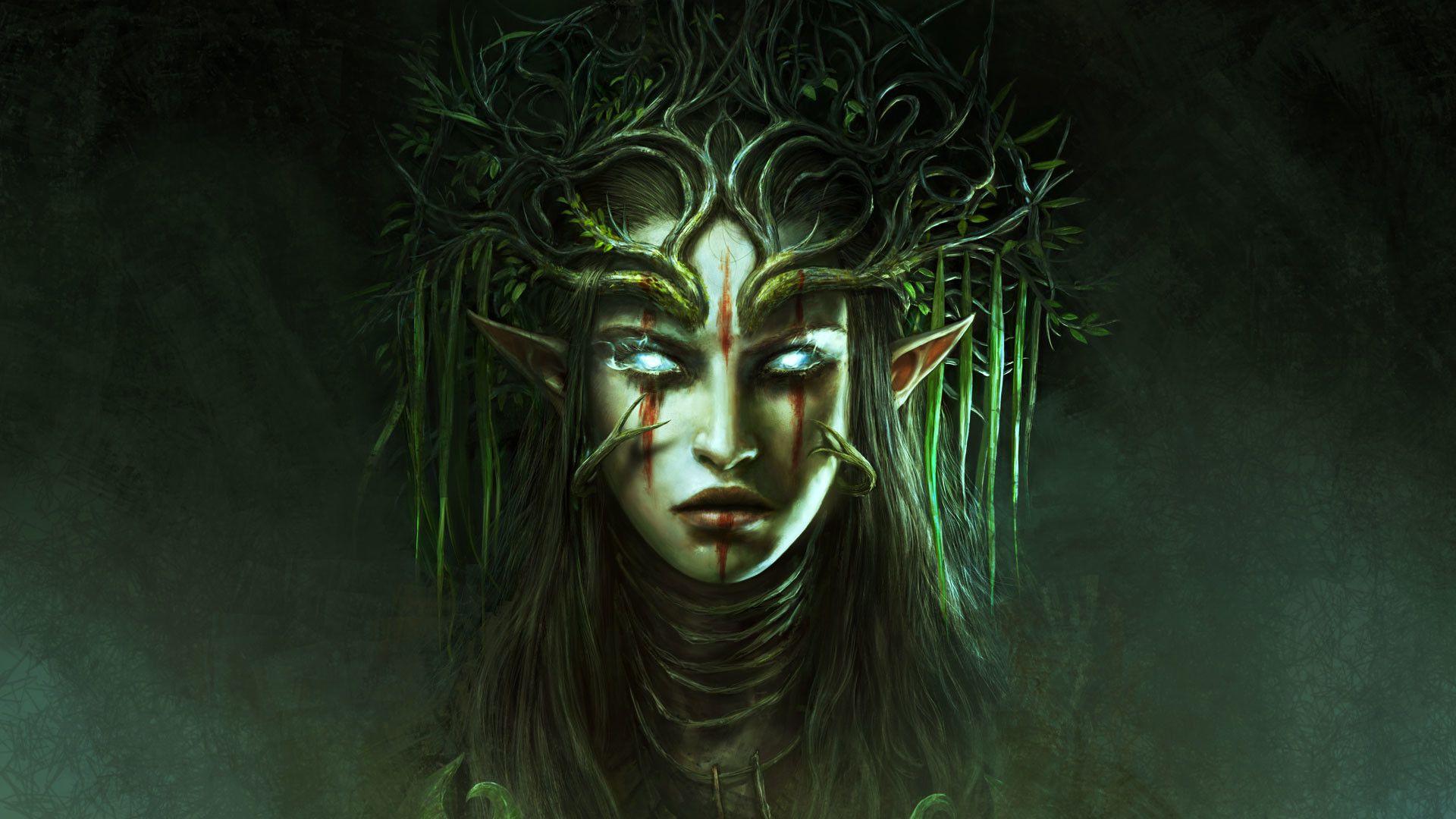 Dark Elf Wallpaper 72 Pictures Dark Elf Elf Art Best Pc Games