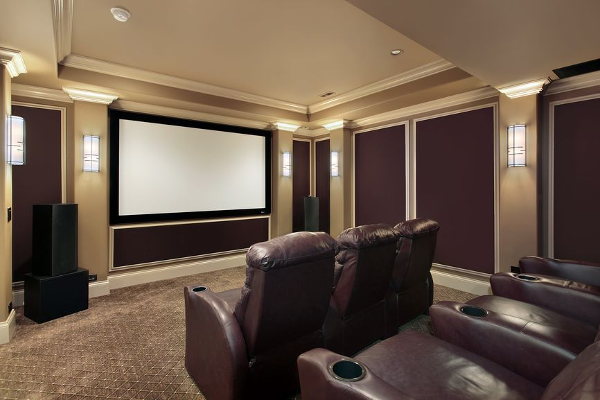 home theater room colors