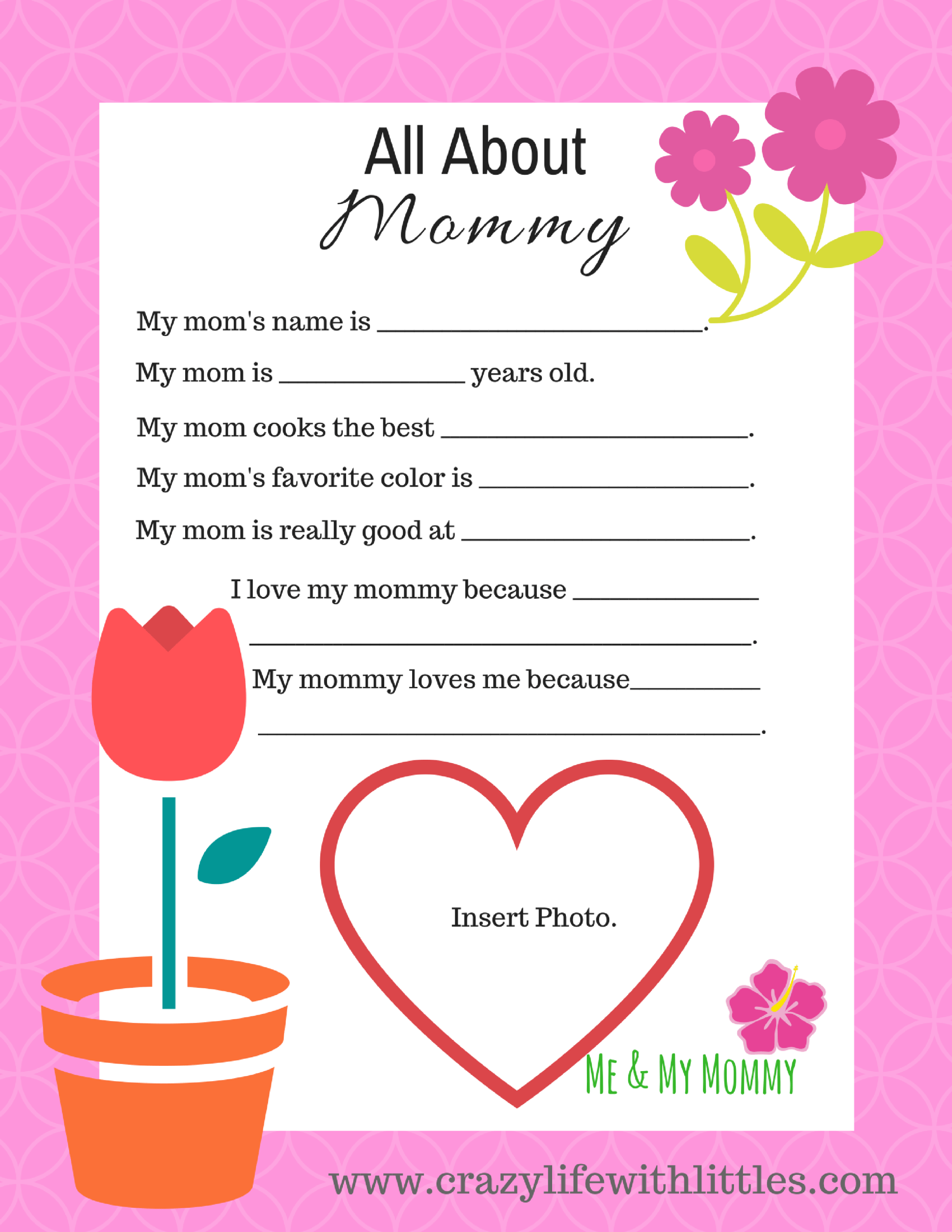 free mother's day printable from toddlers  mothers day