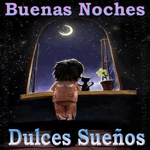 Картинка спокойной ночи на испанском