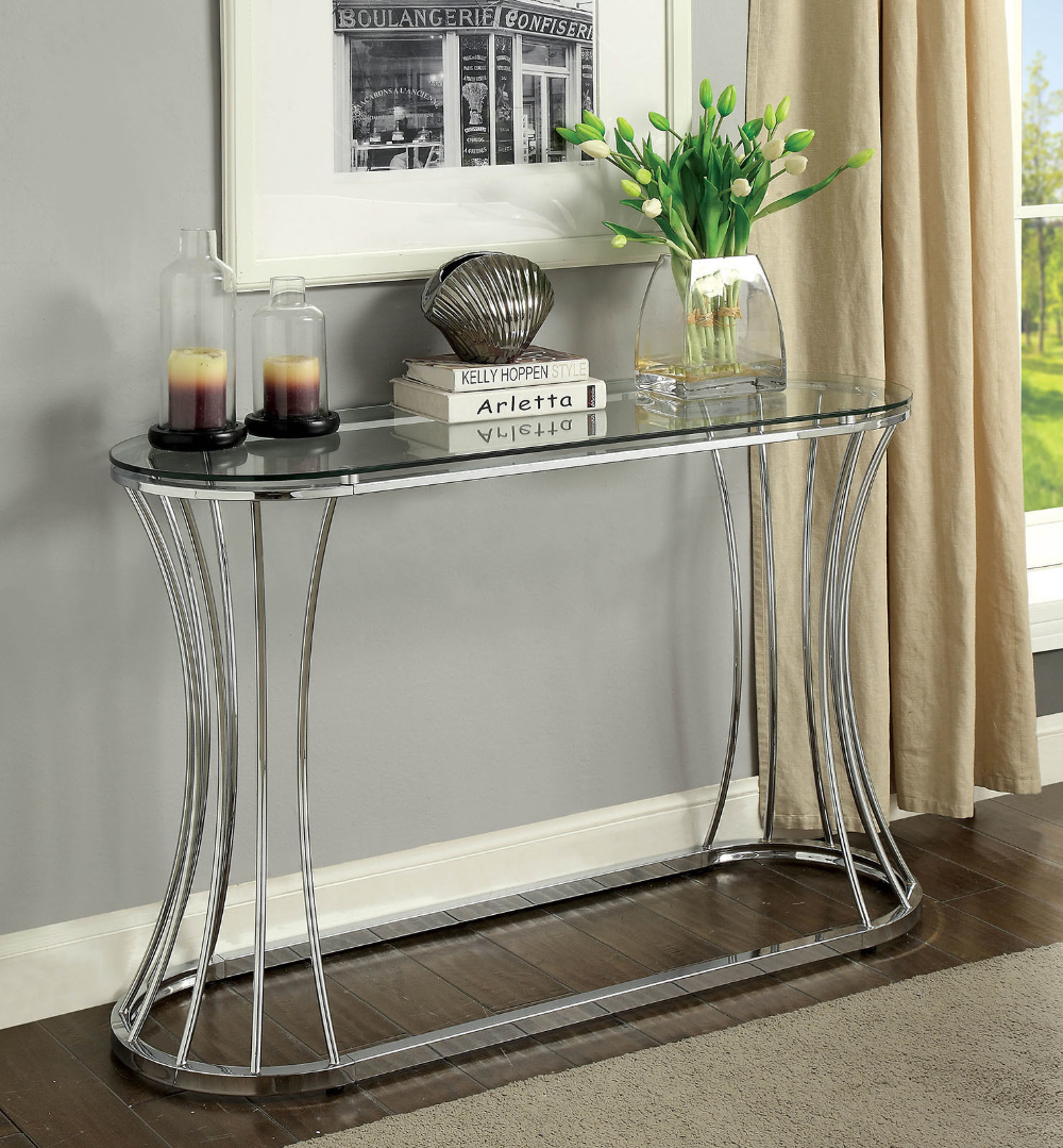 Esme Coffee Table Cm4172 Furniture Of America Coffee Tables In 2021 Sofa Table Decor Glass Top Coffee Table Sofa Table [ 1079 x 1000 Pixel ]