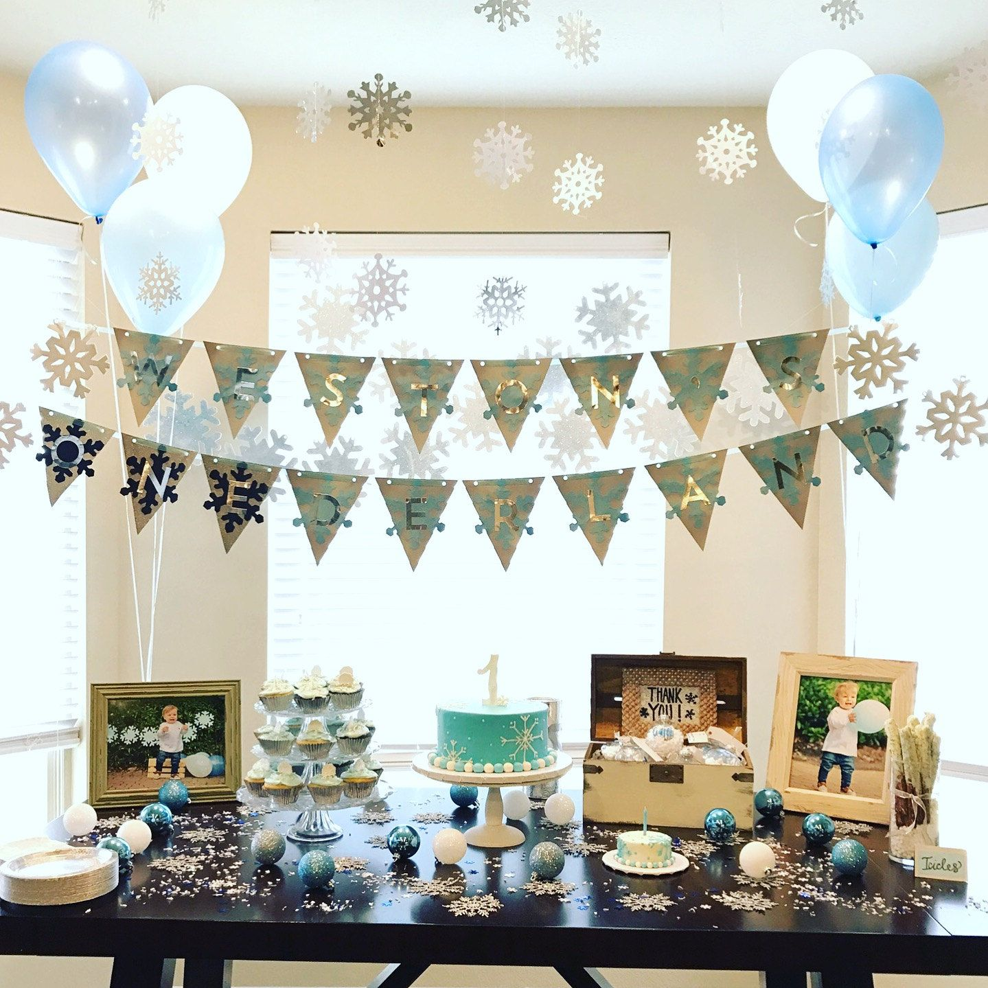 Winter ONEderland decorations/9st Birthday/boy 9st birthday/winter