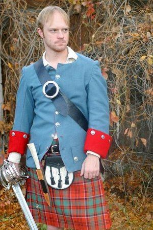 Highland jacket from Jacobite era, made by Missy Clark from