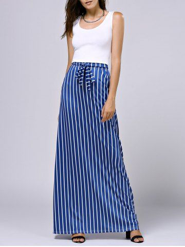 05ebafb006718f Cropped Tank Top and Striped Pocket Maxi Skirt