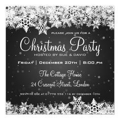christmas party invitation cards google search