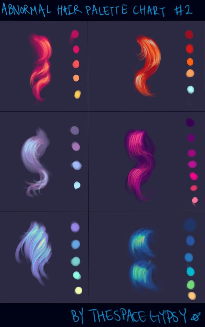 Abnormal hair color palettes supplement chart 2 by abnormal hair color palettes supplement chart 2 by starshipsorceress nvjuhfo Image collections
