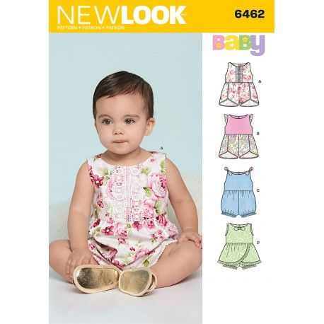8fb1cdfca3f Baby dragt New look snitmønster | Syning | Baby romper pattern, Baby ...