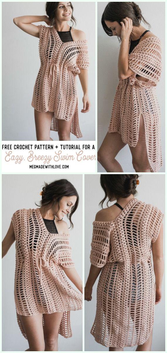 Easy Breezy Swim Cover Crochet Free Pattern Crochet Beach Cover Up Free Patterns Odezhda Vyazanie Shite