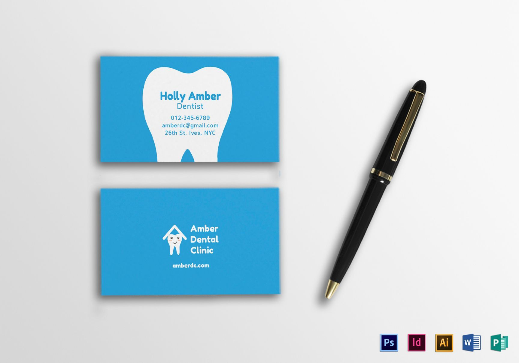 Get Our Image Of Dentist Business Card Templates In 2020 Dental Business Cards Business Card Template Design Business Card Template