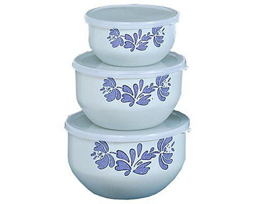 Pfaltzgraff Yorktowne 6 Piece Enamel On Steel Bowl Set, Large