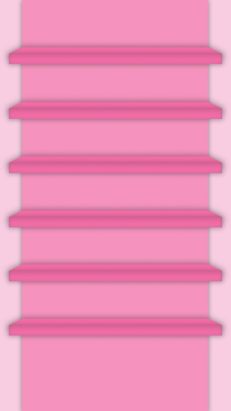 Tap And Get The Free App Shelves Cute Simple Girly Pink Light