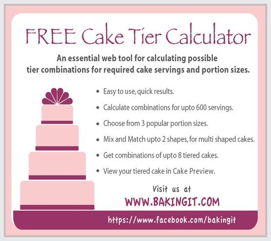 FREE Cake Tier Calculator, This Cake Tool Helps You