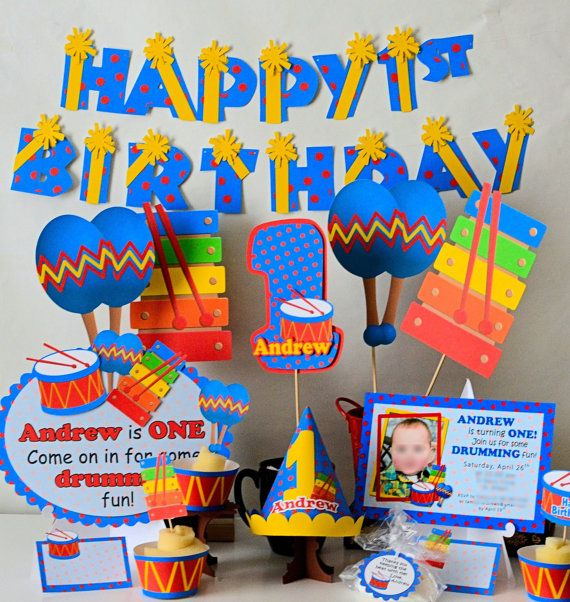 Music 1st Birthday Party Decorations