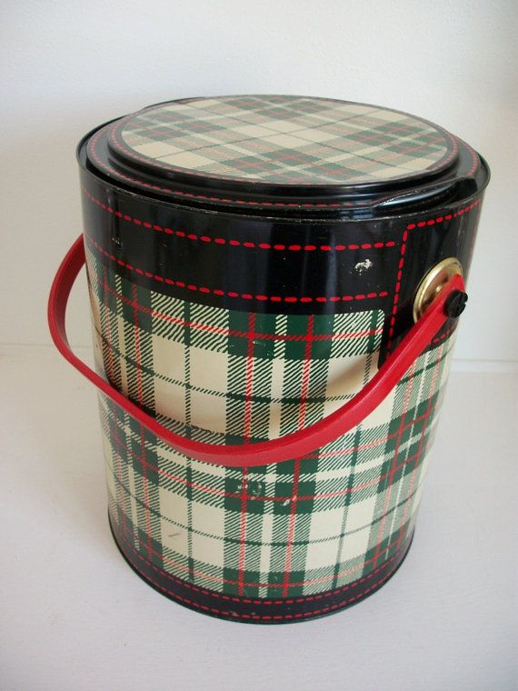 i'm not sure what exactly this is, maybe some sort of lunch box? but its plaid, so I like it