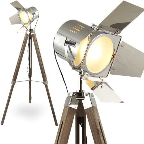 Mojo stehleuchte tripod stehlampe dreifuss lampe urban for Stehlampe industriedesign