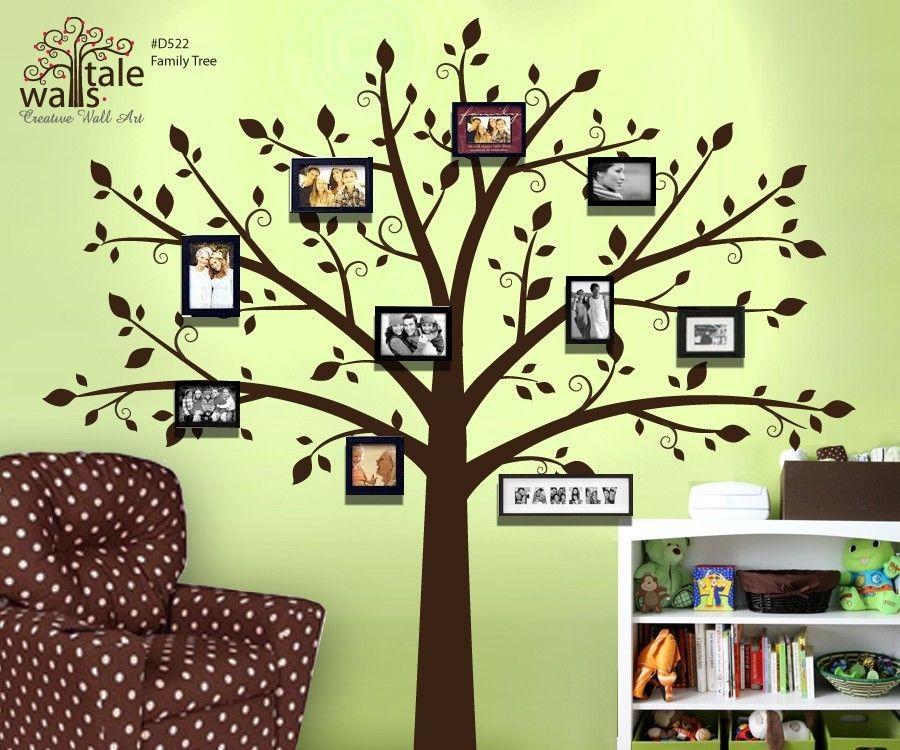 Home Wall Art Ideas family tree wall decor - creative home decoration, wall art