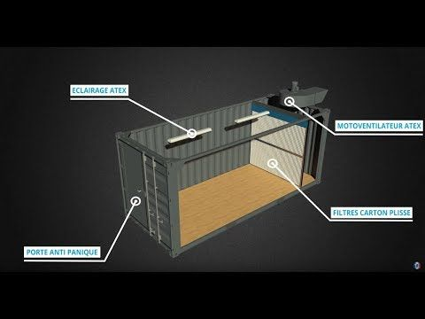 Le Container Cabine De Peinture Tricolor Industries Youtube