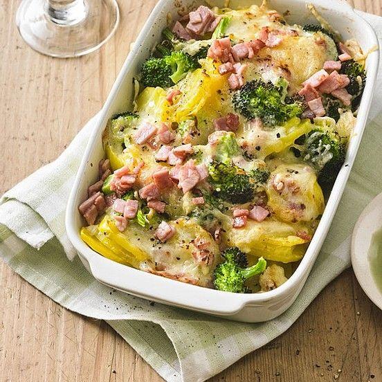 Brokkoli-Kartoffel-Gratin mit Schinken von Baerinho | Chefkoch