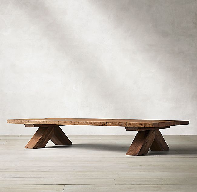 Oak Br�l� Live-Edge Rectangular Coffee Table images