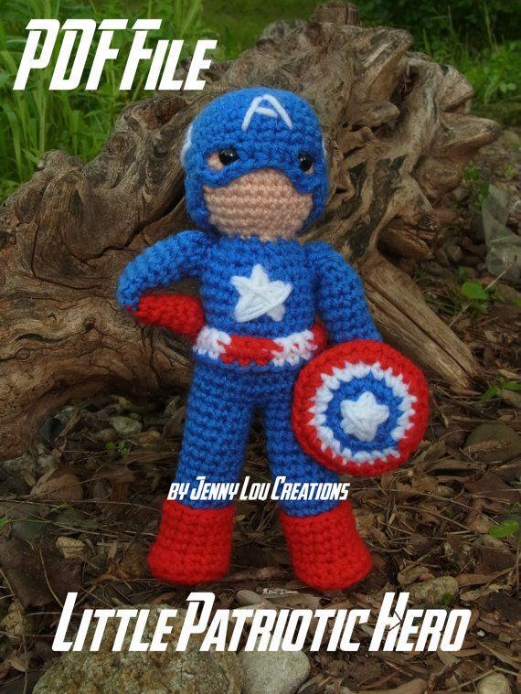 Captain America | AMIGURUMI CROCHET | Pinterest | Häkeln