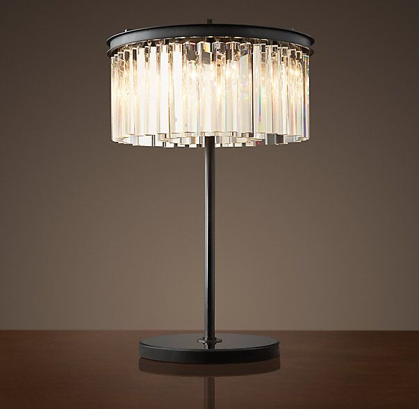 Rhys Clear Glass Prism Table Lamp