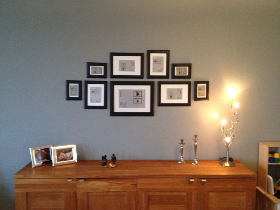 Photo wall custom made. IKEA Virserum 9 pictures. Zelfgemaakte foto ...