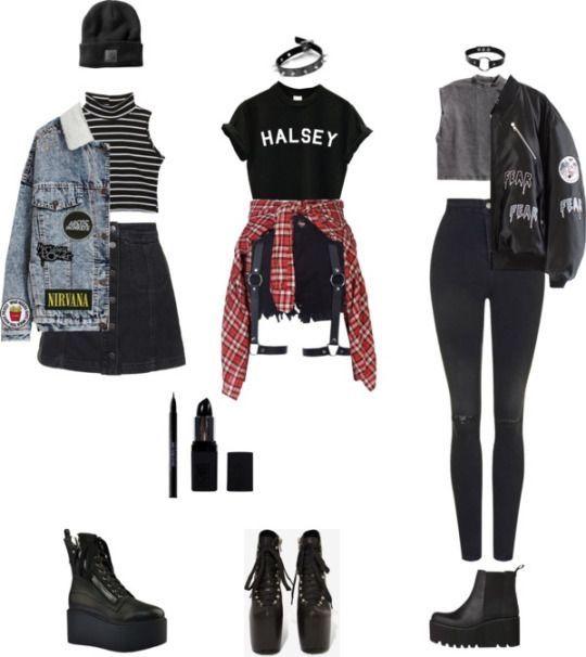 pinterest musically francesca6372 punk style outfits. Black Bedroom Furniture Sets. Home Design Ideas