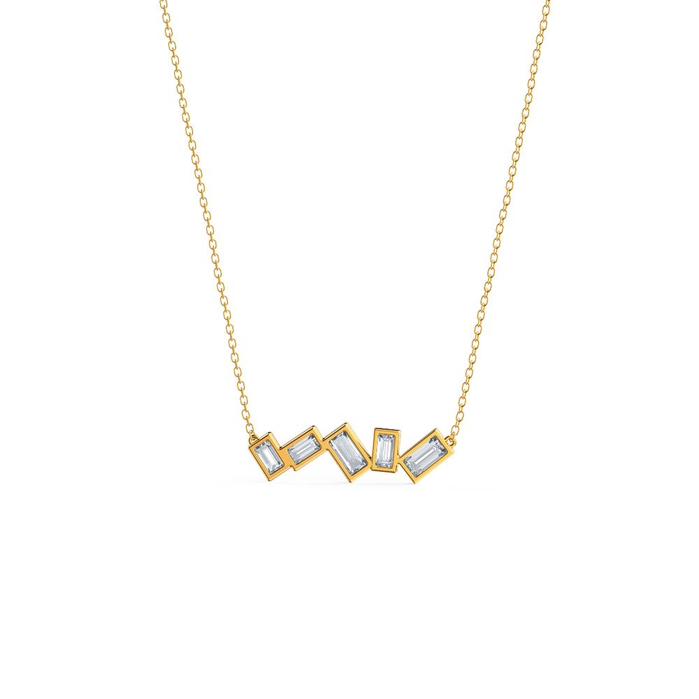 A delightful lab grown diamond necklace adaus baguette five stone