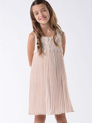 Blush by US Angels Pink Chiffon Pleated Girls Party Dress