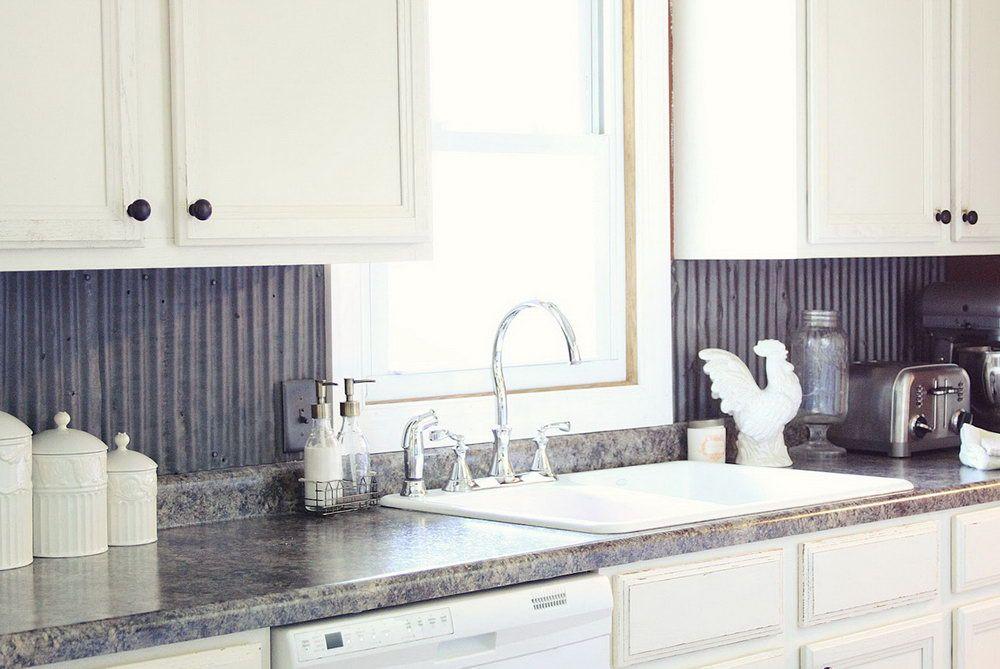 Corrugated Tin Backsplash Kitchen | Home Design Ideas Part 25