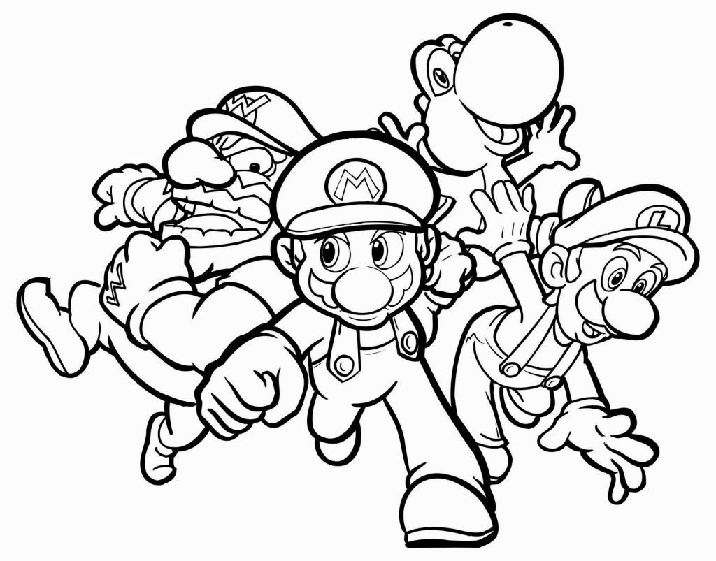 Top 9 Super Mario 9d World Coloring Pages