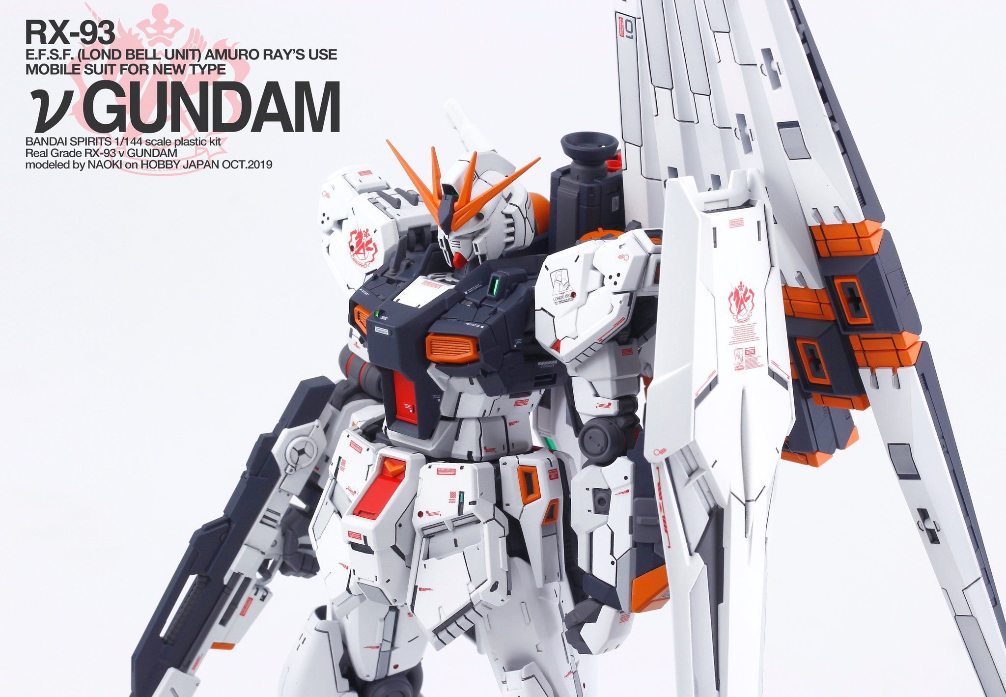 RG Mobile Suit Char/'s Counterattack Nu Gundam 1//144 Japan import NEW F//S