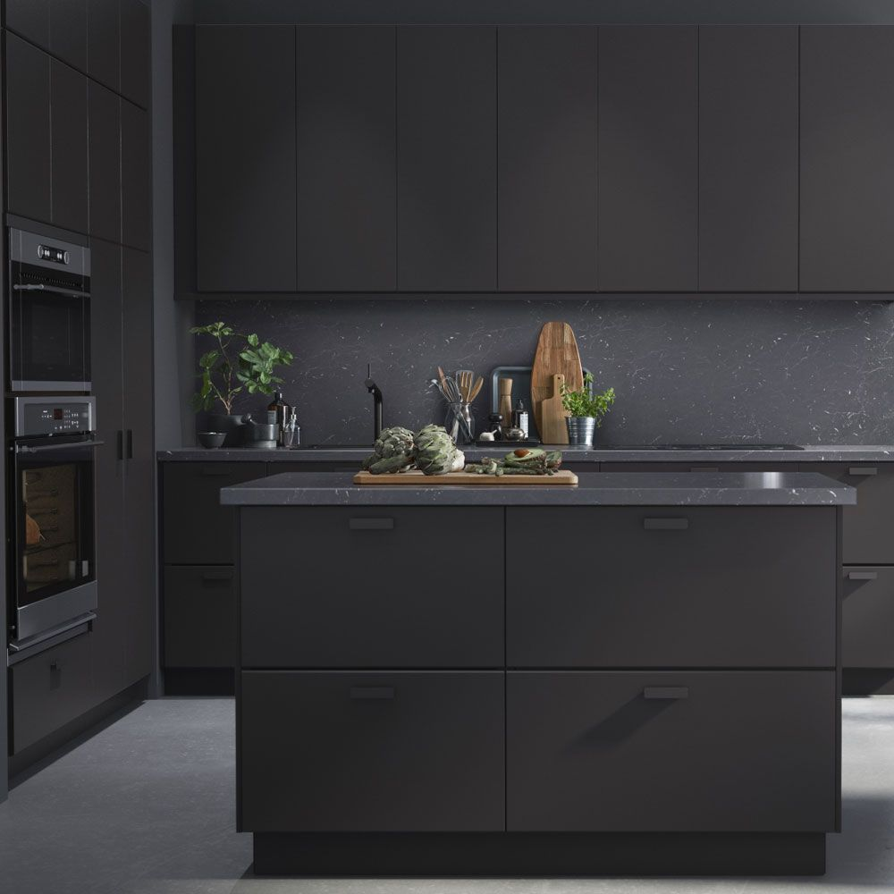 ikea launches kitchen made out of recycled plastic pet bottles ideal home - Ikea Black Kitchen Cabinets