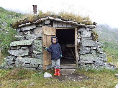Relaxshacks.com: Tiny Underground House in Norway (and a micro stone house)