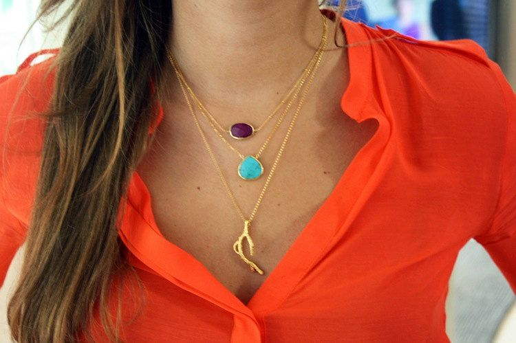 cascade of necklaces from kei on etsy