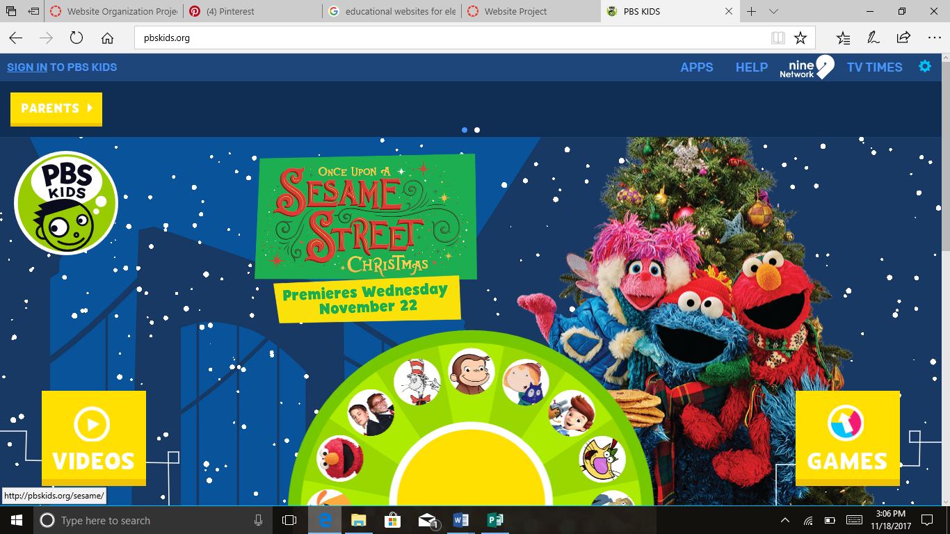 PBS Science Games for PreK K