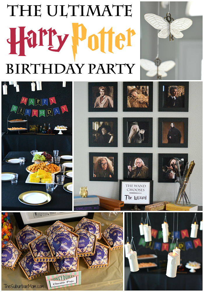 The Ultimate Harry Potter Birthday Party Ideas Free Printables Decorations Food Ideas Party Festa Harry Potter Aniversario Harry Potter Party Harry Potter