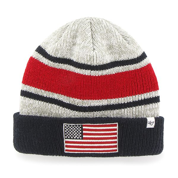 3c712cbe49c Operation Hat Trick Oht Broten Cuff Knit Gray 47 Brand USA Flag Hat