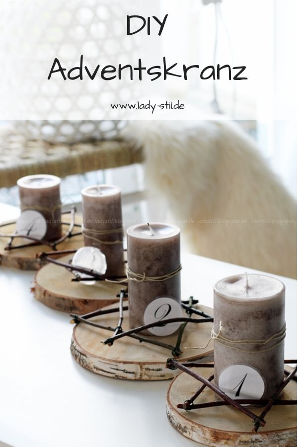 DIY Adventskranz Advent ! Advent ! #adventskranzholz
