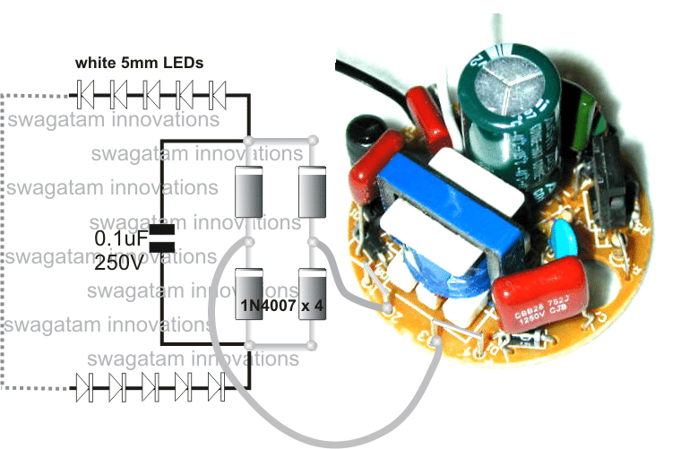Converting A Dead Cfl Into An Led Tubelight In 2020 Electronic Circuit Projects Electronics Mini Projects Circuit Projects