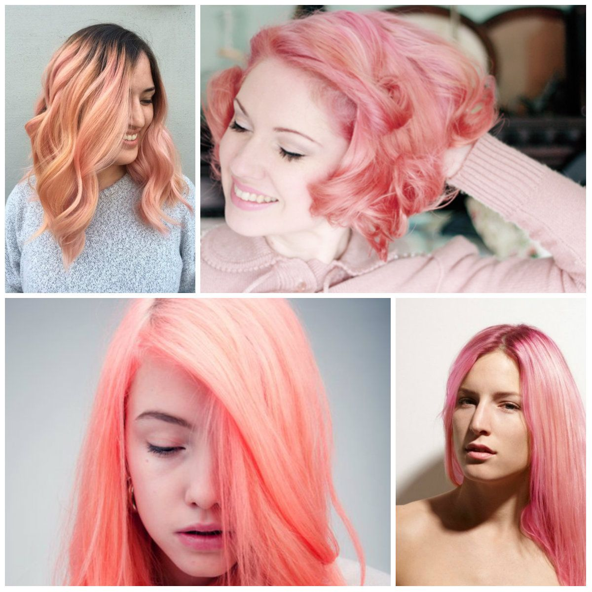 Todays Hair Color Trend Falls Into The Coral Pink Hue Soft Attracts All