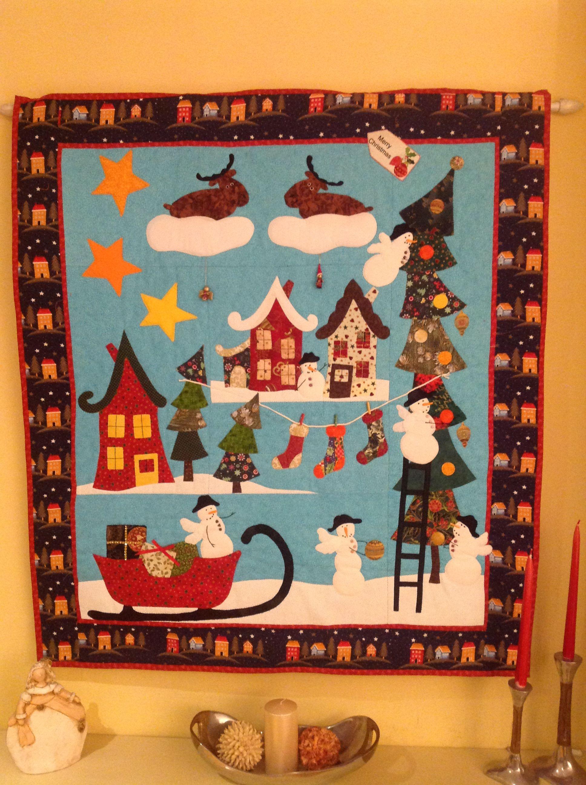 Mural de navidad patchwork pinterest murales de - Murales decorativos de navidad ...