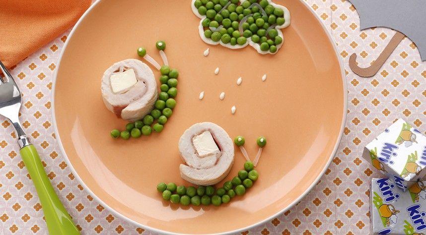 roul s de volaille aux petits pois et fromage kiri les escargots recette inspiration. Black Bedroom Furniture Sets. Home Design Ideas